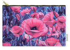 Modern Poppies Carry-all Pouch