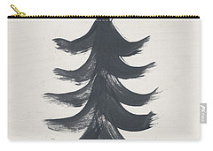 Modern Primitive Black And Gold Tree 1- Art By Linda Woods Carry-all Pouch