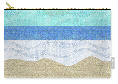Modern Sandy Beach Carry-all Pouch