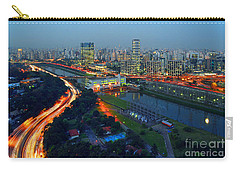 Modern Sao Paulo Skyline - Cidade Jardim And Marginal Pinheiros Carry-all Pouch