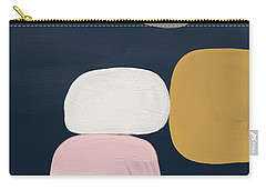 Modern Stones Navy 2- Art By Linda Woods Carry-all Pouch