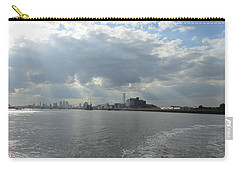 Carry-all Pouch featuring the photograph Moggy Afternoon On The Woolwich Ferry Crossing - London by Mudiama Kammoh