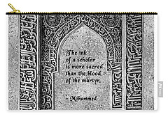 Carry-all Pouch featuring the digital art Mohammad Quote by Megan Dirsa-DuBois