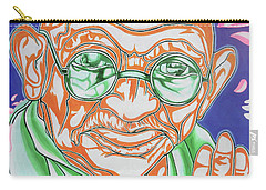Carry-all Pouch featuring the photograph Mohandas Karamchand Gandhi  by Juergen Weiss
