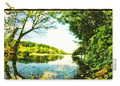 Carry-all Pouch featuring the photograph Mohegan Lake By The Bridge by Derek Gedney