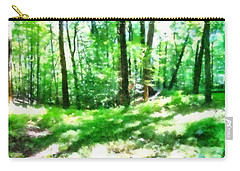 Carry-all Pouch featuring the photograph Mohegan Lake Forever Green by Derek Gedney