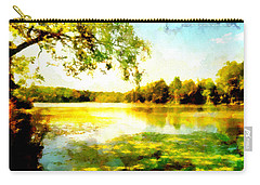 Carry-all Pouch featuring the painting Mohegan Lake Hidden Oasis by Derek Gedney