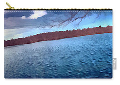 Carry-all Pouch featuring the painting Mohegan Lake Panoramic Lake by Derek Gedney