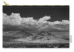 Carry-all Pouch featuring the photograph Mojave 020 Bw by Lance Vaughn