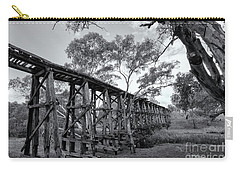 Carry-all Pouch featuring the photograph Mollisons Creek Trestle Bridge by Linda Lees
