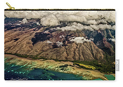 Carry-all Pouch featuring the photograph Molokai From The Sky by Joann Copeland-Paul