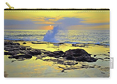 Carry-all Pouch featuring the photograph Mololkai Splash by Tara Turner
