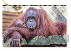 Mom And Baby Orangutan Carry-all Pouch