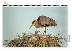 Mom And Chick Carry-all Pouch