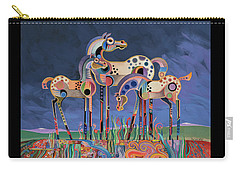 Mom And Foals Carry-all Pouch by Bob Coonts
