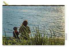 Mother And Son Carry-all Pouch by Ed Clark