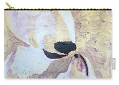 Carry-all Pouch featuring the painting Momma Bear Checking On Her Cub by Donald J Ryker III
