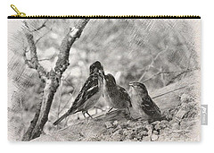 Carry-all Pouch featuring the photograph Mom, I Am Hungry by Debby Pueschel