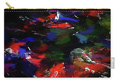 Moment In Blue Choppy Seas Carry-all Pouch by Cedric Hampton