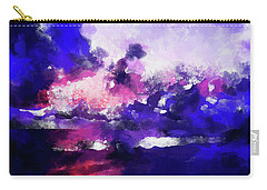 Moment In Blue Major Carry-all Pouch by Cedric Hampton