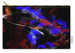 Moment In Blue Night Sky Carry-all Pouch by Cedric Hampton