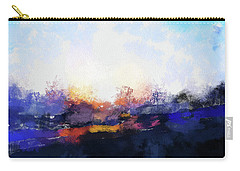 Moment In Blue Spaces Carry-all Pouch by Cedric Hampton