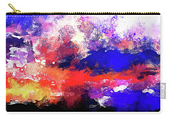 Moment In Blue Sunrise Carry-all Pouch by Cedric Hampton