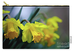 Carry-all Pouch featuring the photograph Mom's Daffs by Lois Bryan