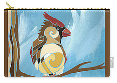 Moms Day Off Female Cardinal Painting Carry-all Pouch