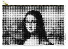 Mona Lisa Halftone Carry-all Pouch