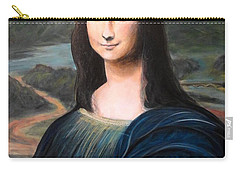 Mona Lisa With Ipad Carry-all Pouch