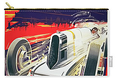 Carry-all Pouch featuring the digital art Monaco Grand Prix 1930 by Taylan Apukovska
