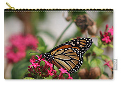 Monarch Butterfly On Fuchsia Carry-all Pouch