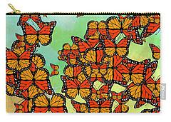 Monarch Butterflies Carry-all Pouch by Gaspar Avila