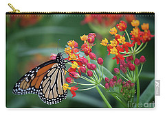 Carry-all Pouch featuring the photograph Monarch Butterfly by Ann Jacobson