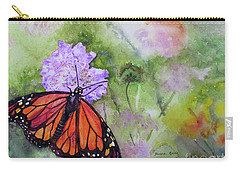 Monarch Butterfly Carry-all Pouch by Bonnie Rinier