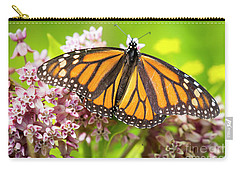 Carry-all Pouch featuring the photograph Monarch Butterfly Closeup  by Ricky L Jones