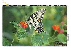 Carry-all Pouch featuring the painting Monarch Butterfly by Debra Crank