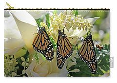 Monarch Butterfly Garden  Carry-all Pouch by Luana K Perez