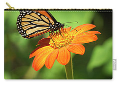 Monarch Butterfly II Vertical Carry-all Pouch