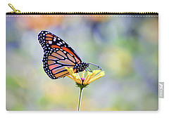Carry-all Pouch featuring the photograph Monarch Butterfly -  In The Garden by Kerri Farley