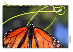 Carry-all Pouch featuring the photograph Monarch Butterfly by Laurel Talabere