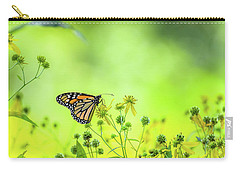 Carry-all Pouch featuring the photograph Monarch Butterfly by Lori Coleman