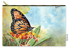 Carry-all Pouch featuring the painting Monarch Butterfly by Sam Sidders