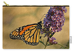 Monarch Butterfly Carry-all Pouch by Sandy Keeton