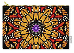 Monarch Butterfly Wings Kaleidoscope Carry-all Pouch