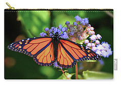 Carry-all Pouch featuring the photograph Monarch In The Mist by Kerri Farley