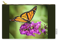 Monarch Moth On Buddleias Carry-all Pouch