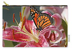 Monarch On A Stargazer Lily Carry-all Pouch