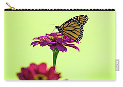 Monarch On A Zinnia Carry-all Pouch by Shelly Gunderson